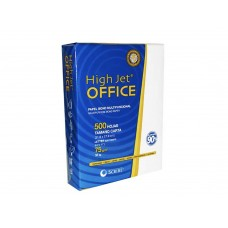 Papel Scribe High jet OFFICE Carta Caja 5000 Hjs 90% de Blancura 75g
